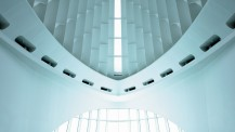 A powerful setting for the 21st  century meeting — Santiago Calatrava's Quadracci Pavilion at the  Milwaukee Art Museum