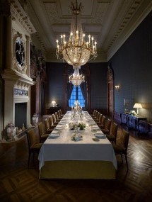 Every guest will feel like a VIP in this richly detailed private dining room