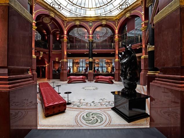 Banke Hotel-Lobby view through doorway