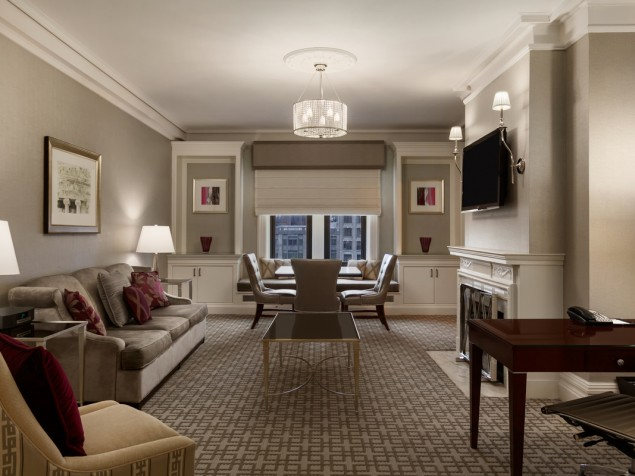 A junior suite outfitted for the senior executive