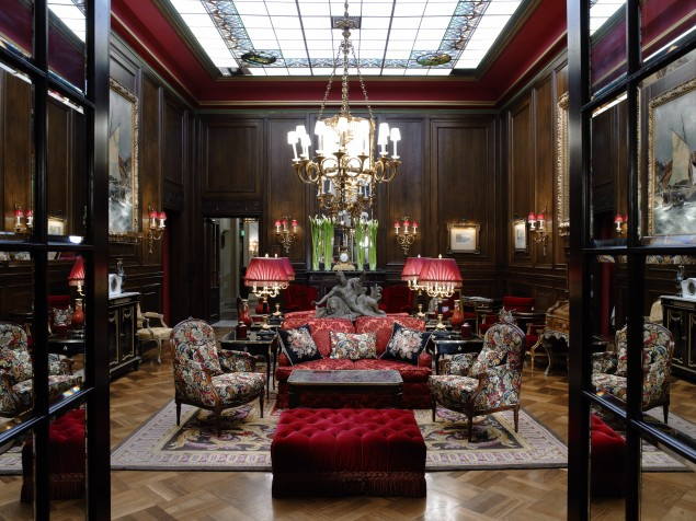 The main salon of Hotel Sacher is a standout space and speaks to the glory of Vienna