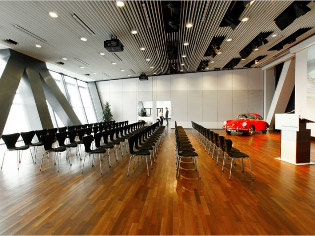 """A great modern meeting room with a carefully placed decorative """"accent"""""""