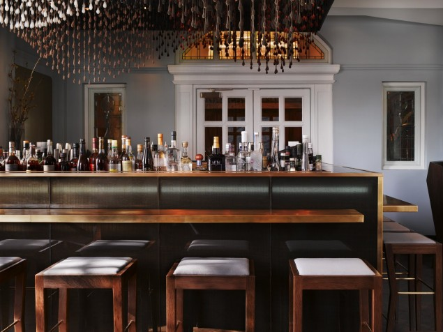 A creative blend of the past and present for mixing drinks at the Bar at Town Hall Hotel
