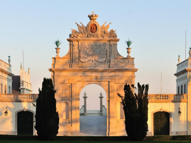 The graceful beauty of the Palacio's entrance gate increases the closer you get to it
