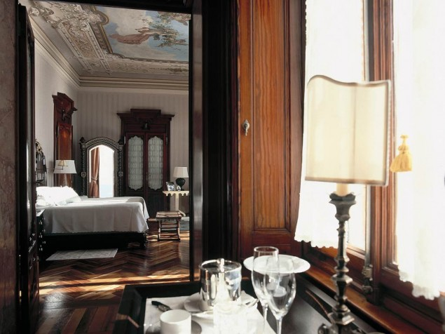 Every guest room at Villa Feltrinelli is a honeymoon suite