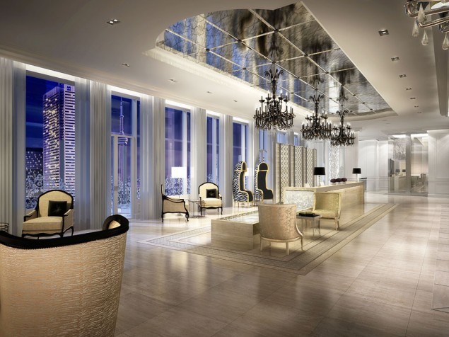Picture your corporate reception or private party in the cool glamour of the Sky Lobby