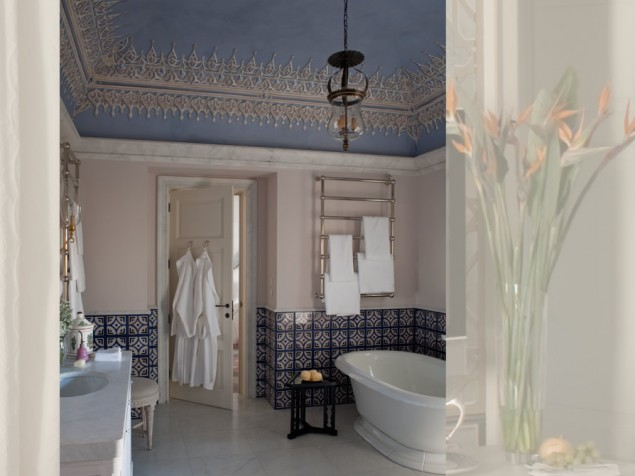 It is rare to find beautiful guest bathrooms that so perfectly complement the bedrooms