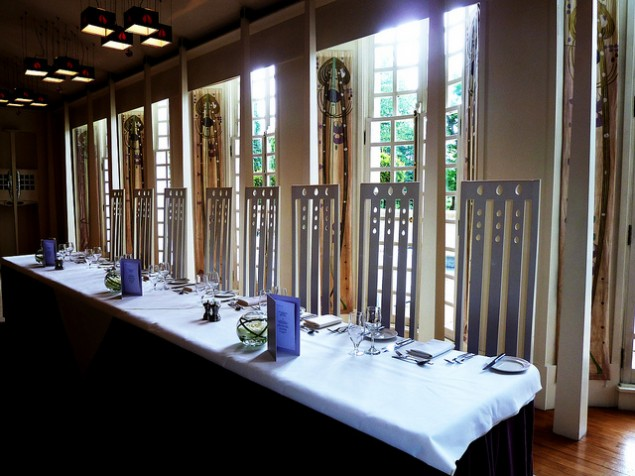 Private dining in the Music room in extraordinary Mackintosh style