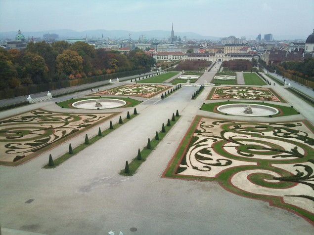 The views across the garden to Vienna are as beautiful as the views to the Palace