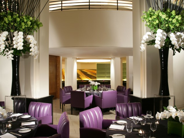 Contemporary interiors and the ideal setting for contemporary British cuisine at Axis