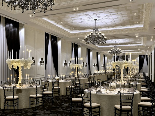 Less is more with a classic, understated wedding reception in the Grand Salon