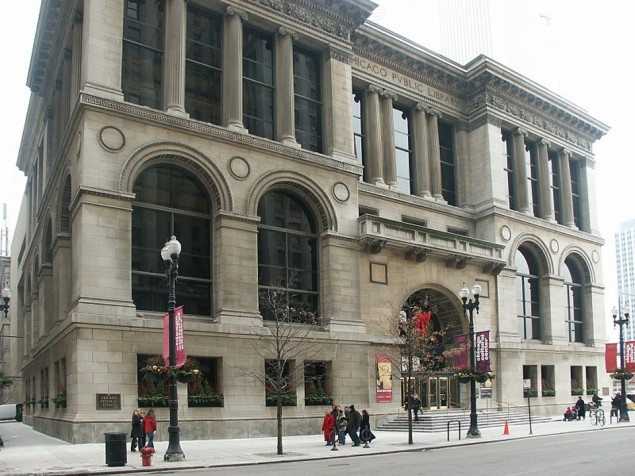 Originally the Chicago Public Library, today a Great Place to Meet and Greet