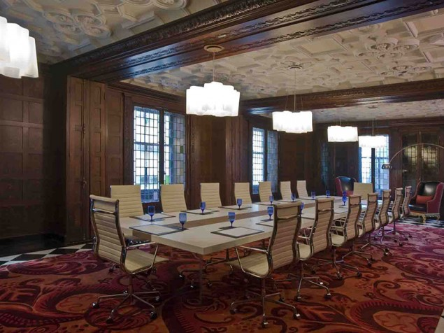 This executive boardroom is certain to impress even the most discriminating Anglophile