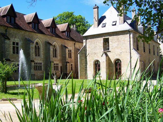The 12th century abbey and church that are the heart of Abbaye de la Bussiere
