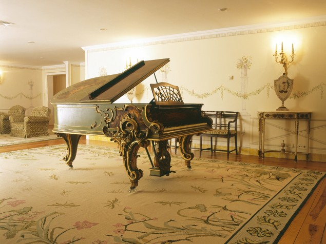 The Piano Room and its seriously stunning piano