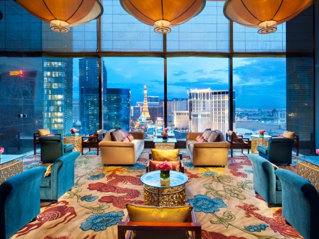 The perfect setting for cocktails or high tea — with elevated views of the Vegas skyline