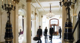 The immediate richness of the historic entrance resonates at the Shelbourne