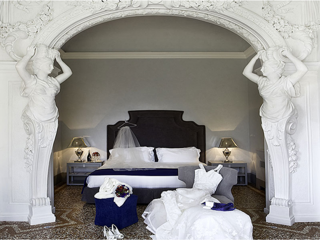 The Foggini Suite —  a honeymooner's paradise featuring Foggini's romantic statues