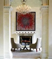 Modern art adds the right touch of the 21st Century to the historic lobby