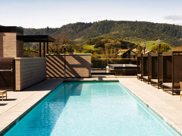 Poolside in picturesque Napa Valley — it doesn't get better than this...