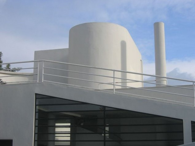 The steep ramp to the roof terraces, inspired by Le Corbusier's passion for steamships