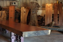 Regionally sourced, reclaimed wood, soon to be a dining table