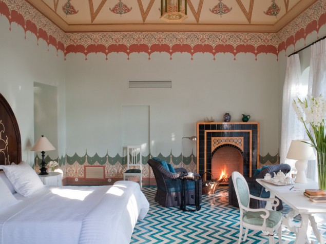 The palazzo's interiors take an Eastern approach in the Moroccan-inspired Coppola Suite