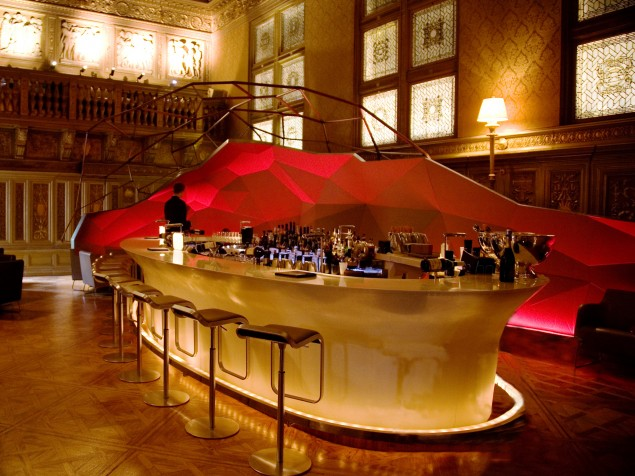 The Gilt Bar— where deals are made as well as signature cocktails