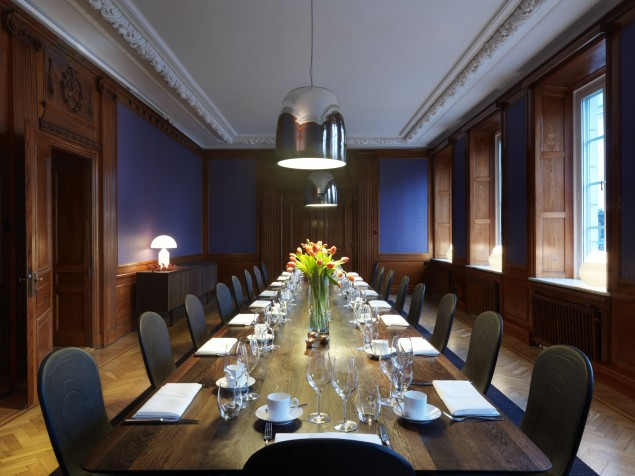 Picture this historic, former bank boardroom for your next big meeting