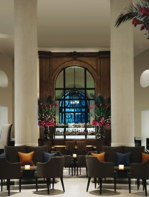 The lobby bar and a great space to spend some time in — any time of day