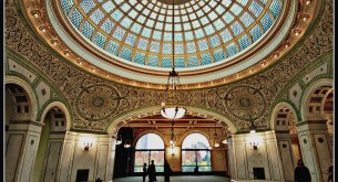 The Dramatic Domed Preston Bradely Hall at the Chicago Cultural Center