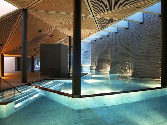 The enchantment of Mario Botta's extraordinary Tschuggen Bergoase Spa