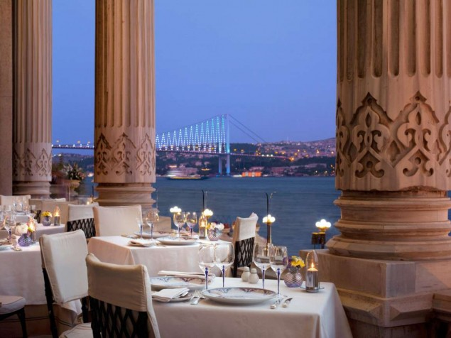 Elegant dining on the Bosphorus at Tugra Restaurant