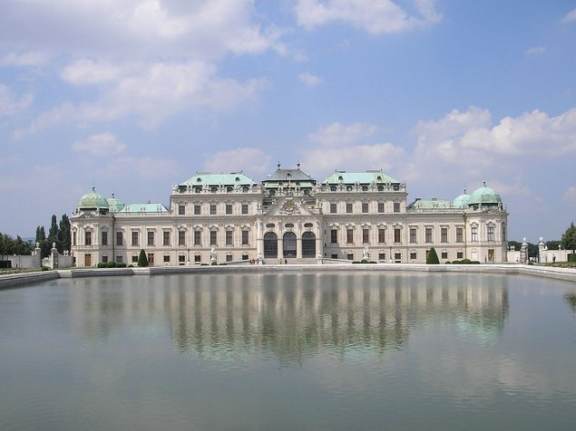 A reflection of the Baroque perfection of Upper Belvedere Palace