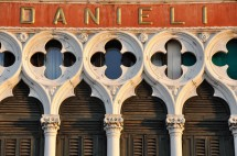 The recognizable and equally beautiful Venetian gothic window tracery