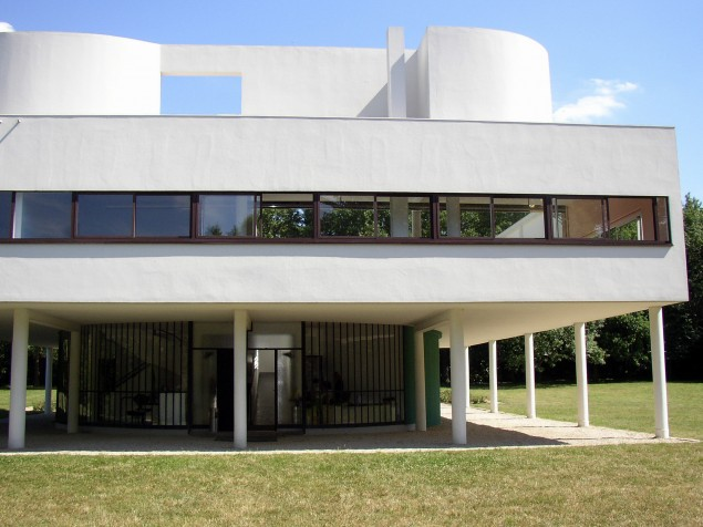 Corbusier's Five Points of Architecture include the elevated floor and ribbon window
