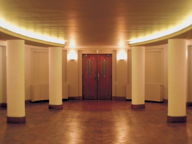 Bozar's lower level has many great gallery and event spaces — the Oval Room is one of them