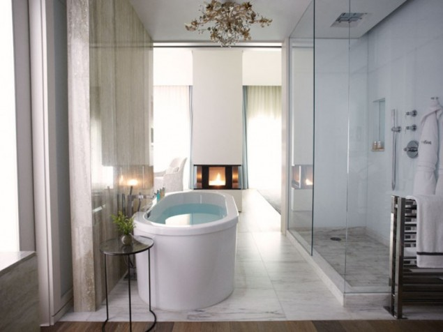 An award-winning hotel bathroom and one of our favorite in any setting