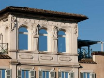 Exterior stone detailing of the Palazzo walls