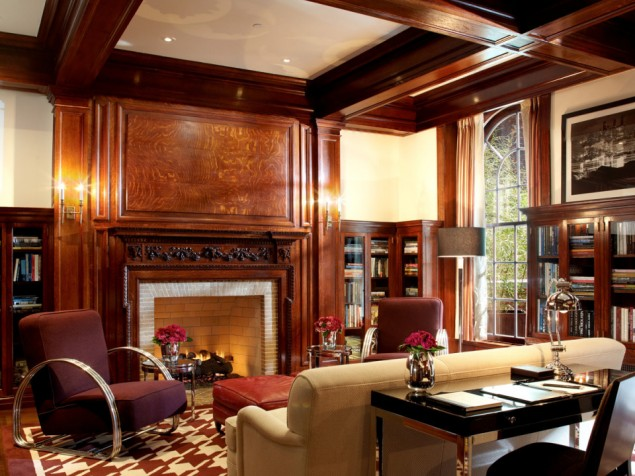 The former library of the Lambs Club is now your exclusive Stanford White Suite