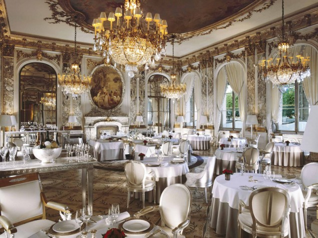 Classic perfection in design and cuisine at the Restaurant Le Maurice