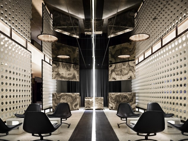 The eye catching, seat grabbing, multiple imagery of the lobby