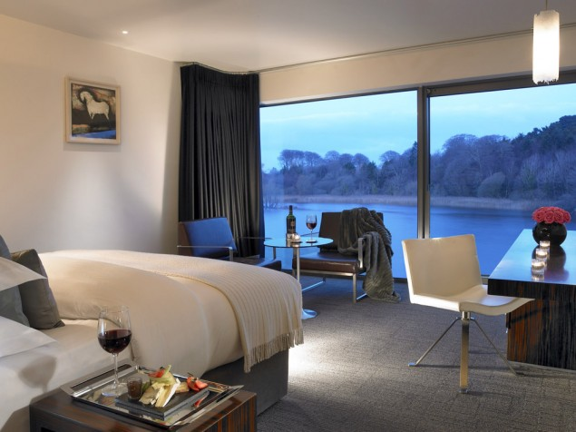 Classic contemporary design at the river's edge in the Deluxe Room
