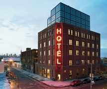 An iresistable transformation from factory to urban boutique, the Wythe Hotel