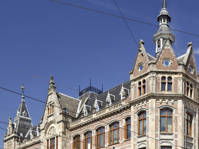 This 19th century ornate brick beauty is masterfully transformed into a striking boutique hotel