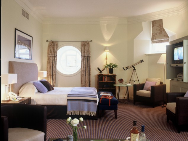 A deluxe bedroom at the Balmoral has the same attention to detail as any of the suites