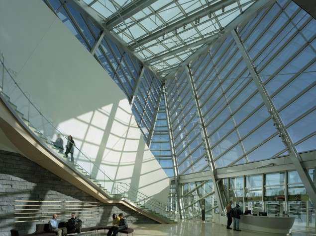 The heart of the museum is the Atrium —  a dramatic event space by day or night
