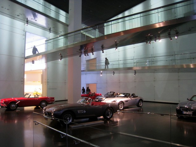 Spend some time reminiscing about your favorite car in high-tech modern galleries as in the BMW Platz at the BMW Museum