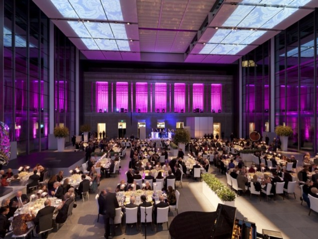 The Ruth and Carl. J. Shapiro Court offers a modern perspective for your private gala