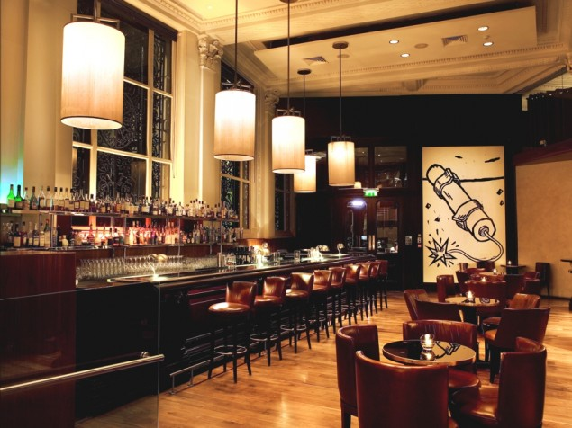 The Bonds Bar offers a grand city setting with plenty of room for all your friends
